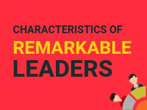 characteristics of a leader