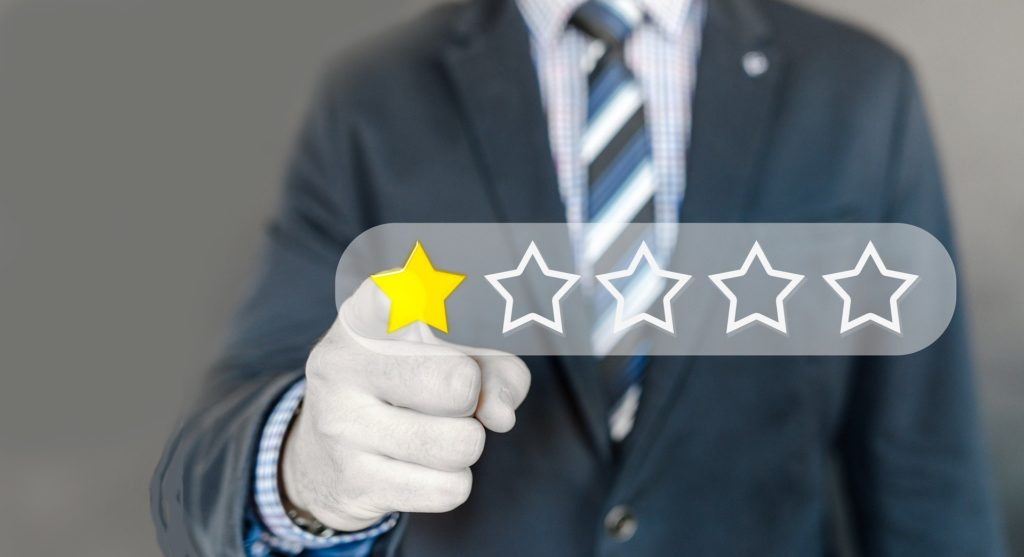 listening to naysayers represented by man giving one star review